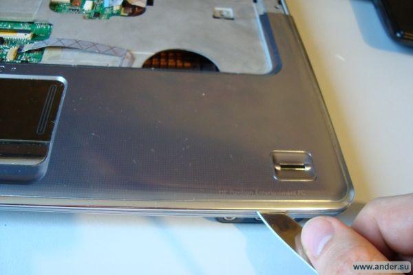 Разборка и чистка ноутбука HP Pavilion dv5 от пыли.