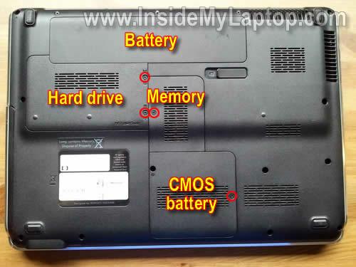 Как разобрать ноутбук HP Pavilion dv5 (2)