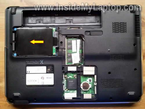 Как разобрать ноутбук HP Pavilion dv5 (3)