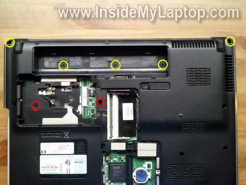Как разобрать ноутбук HP Pavilion dv5 (9)