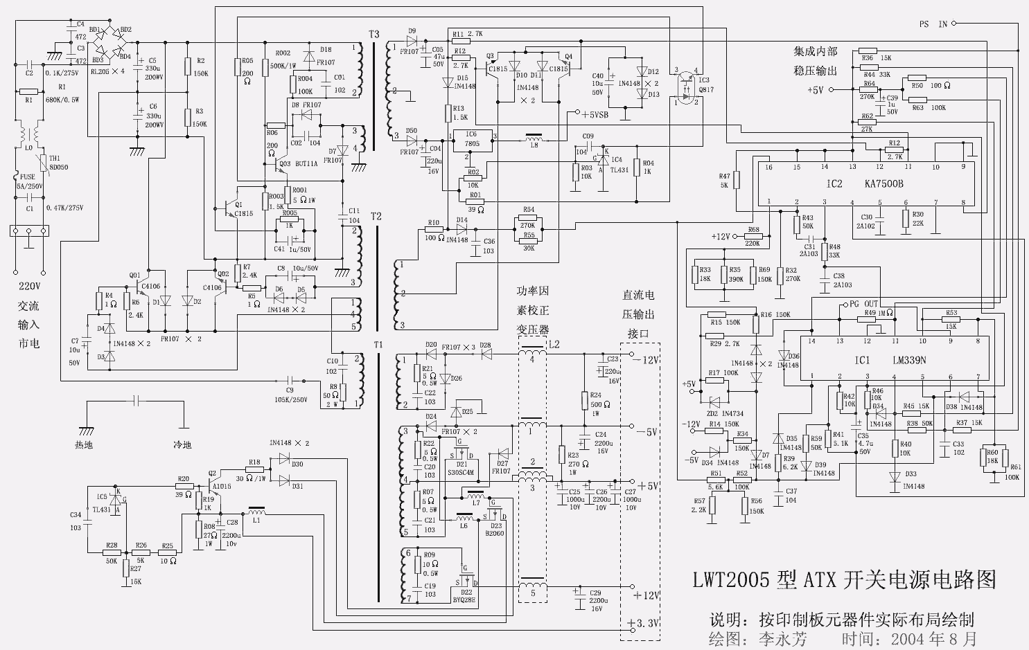 Power supply schemes on atx circuit diagram
