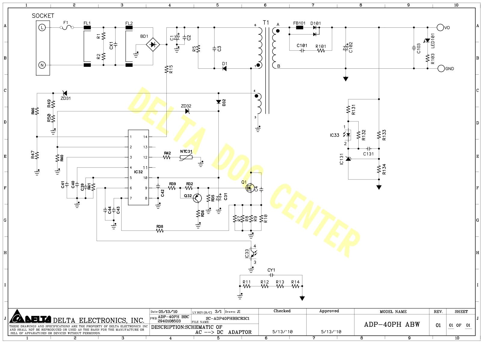 Схема адаптера питания ноутбука фото 942