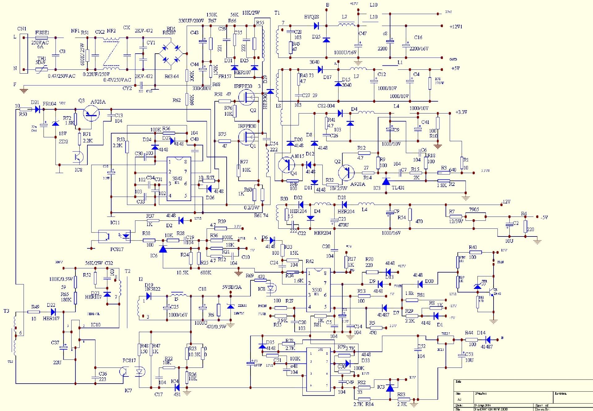 Микролаб схема на блок питания