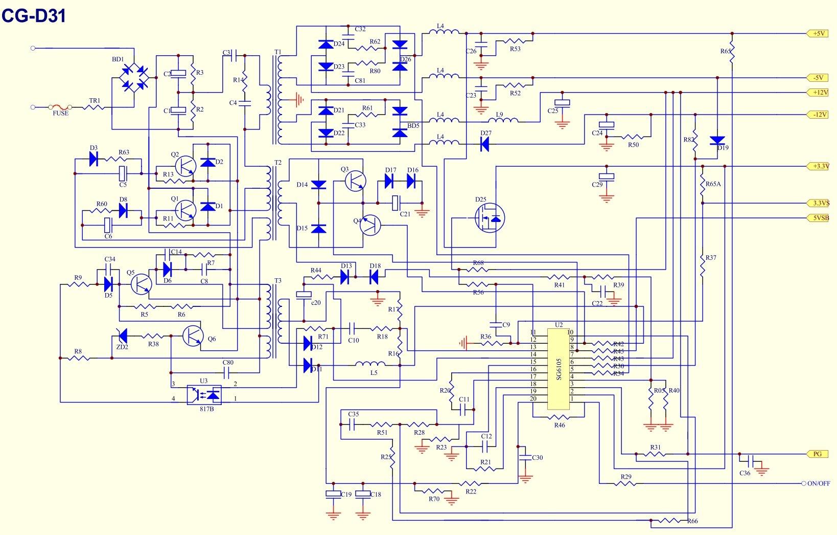Блок питания atx12v350wp4 схема