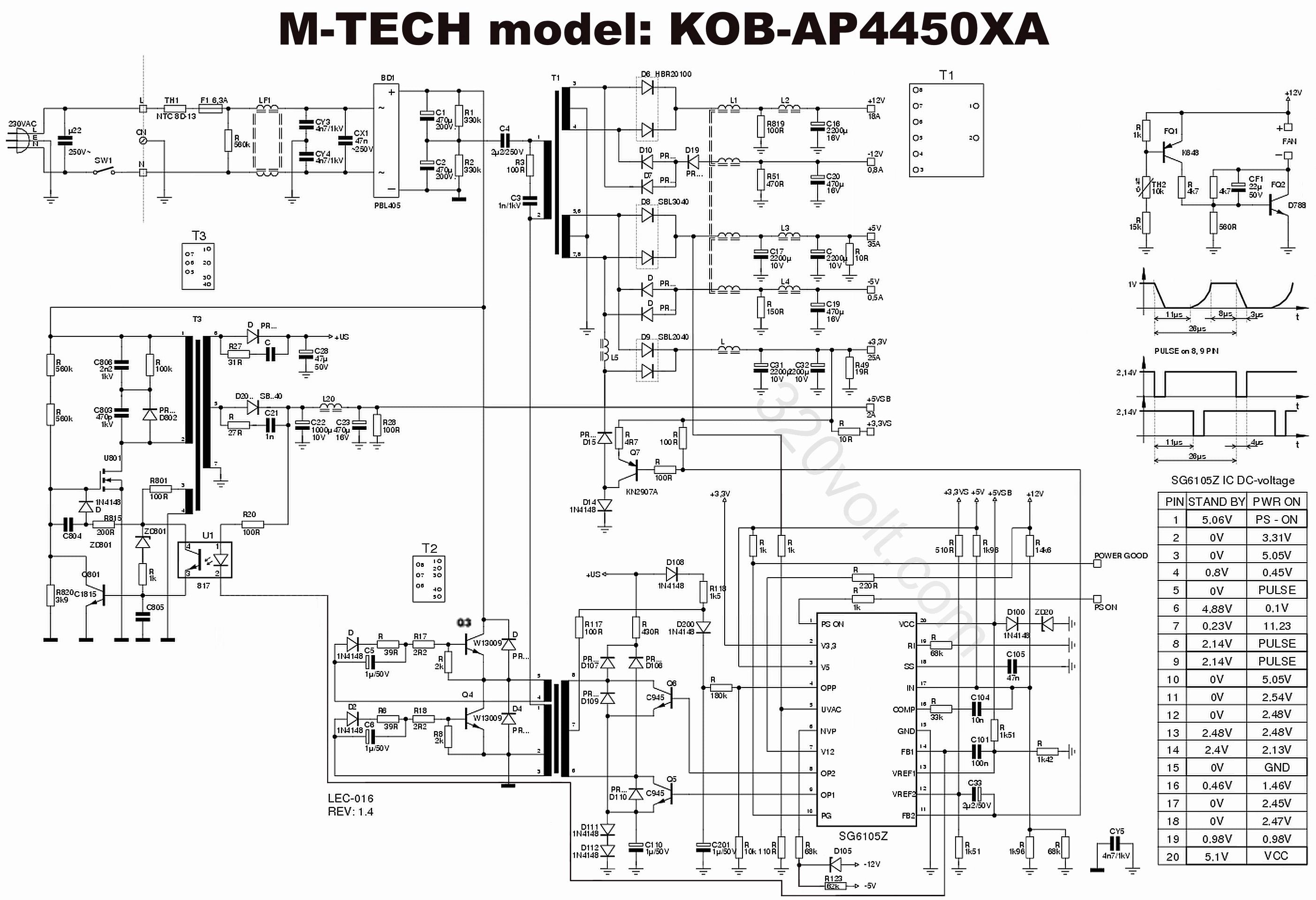 200w Pc Atx Power Supply Dtk Ptp 2038