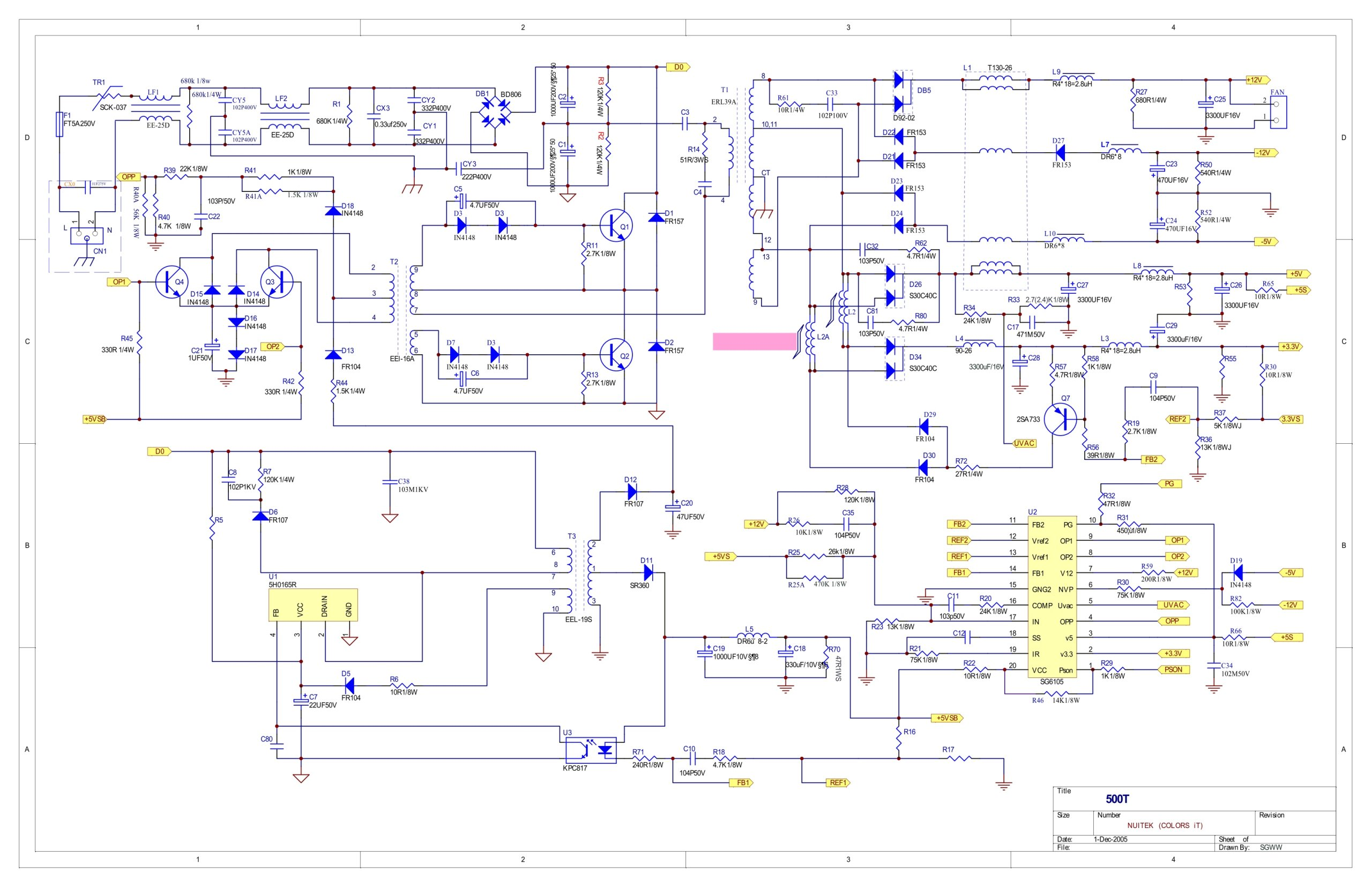 New Circuits Page Next Gr Isolating Atx Smps Ka5h0165r Sg6105 Schematic Diagram Images. ignition wiring diagram