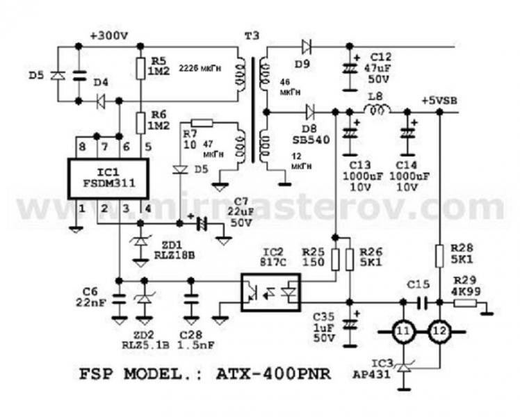 Схема fsp ops550-80gln