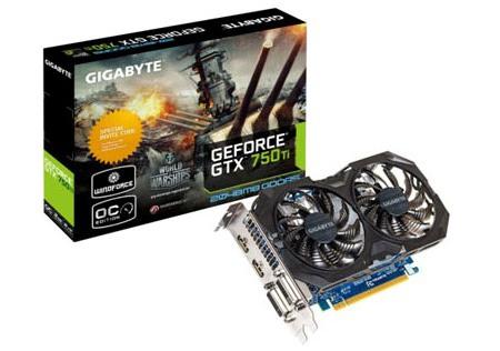Gigabyte GeForce GTX 750 Ti (GV-N75TOC2-2GI-WS)