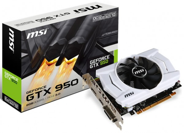 MSI GeForce GTX 950 (GTX 950 2GD5 OCV2)