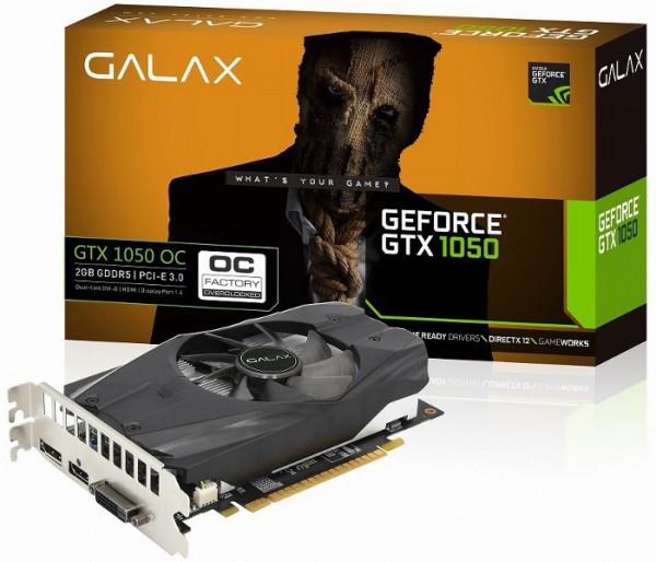 Galax GeForce GTX 1050 OC (GF PGTX1050-OC2GD5)