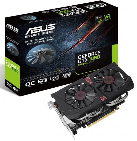 ASUS GeForce GTX 1060 6 Gbps OC