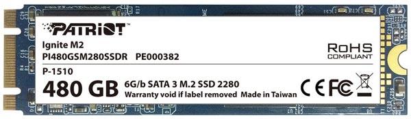 В накопителях Patriot Ignite M2 используются контроллеры Phison S10 и флэш-память типа MLC NAND