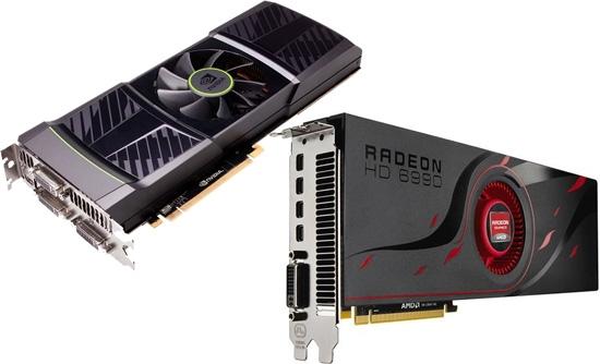 Графические карты AMD Radeon и NVIDIA GeForce