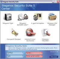 Рис. 1. Steganos Security Suite Center