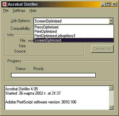 Acrobat Job Options File