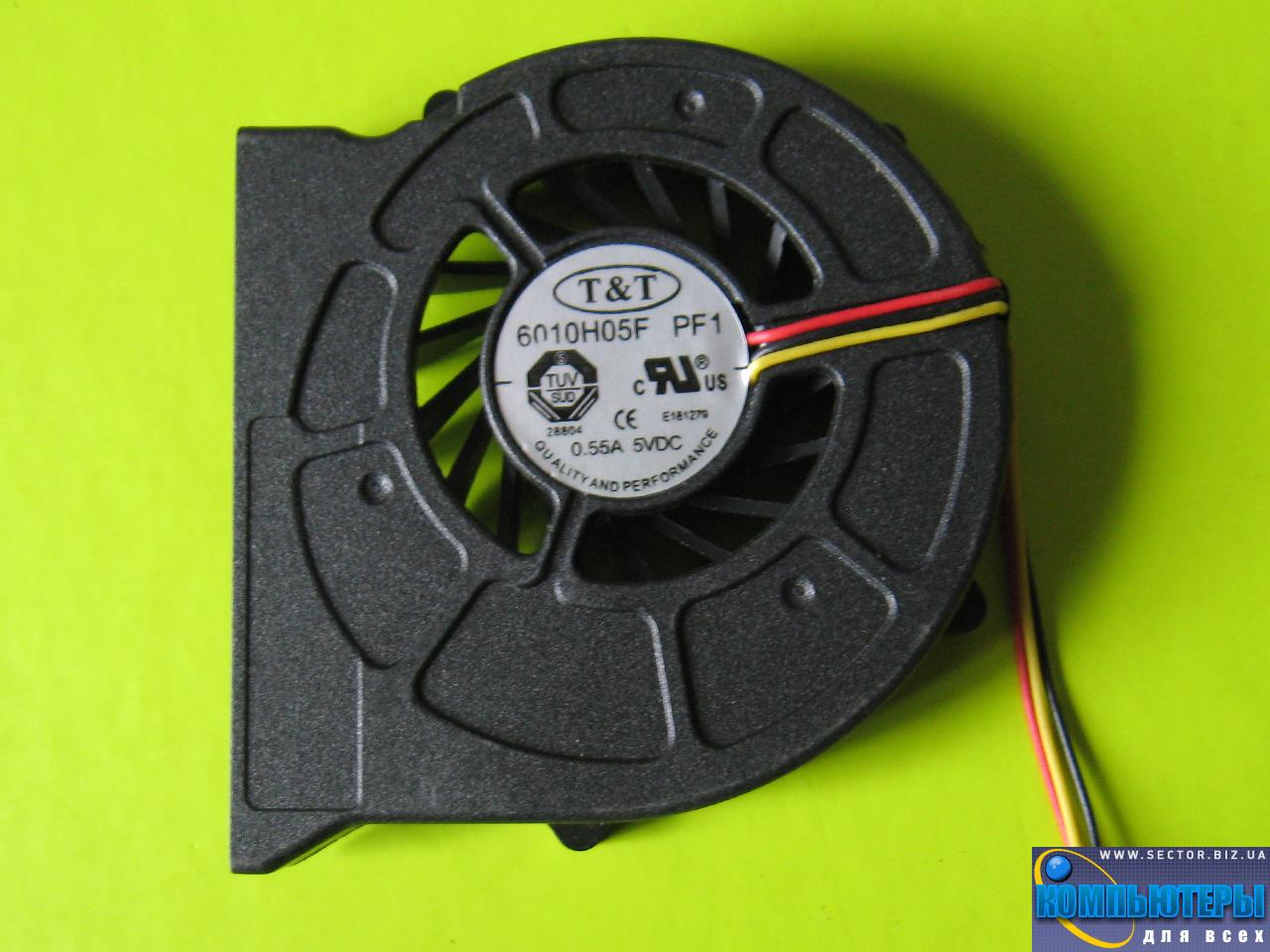 Кулер к ноутбуку MSI CR400 EX460 EX460X EX600 PR400 PR600 MS-1435 MX-1436 MS-1452 MS-163C p/n: 6010H05F PF1. Фото № 2.