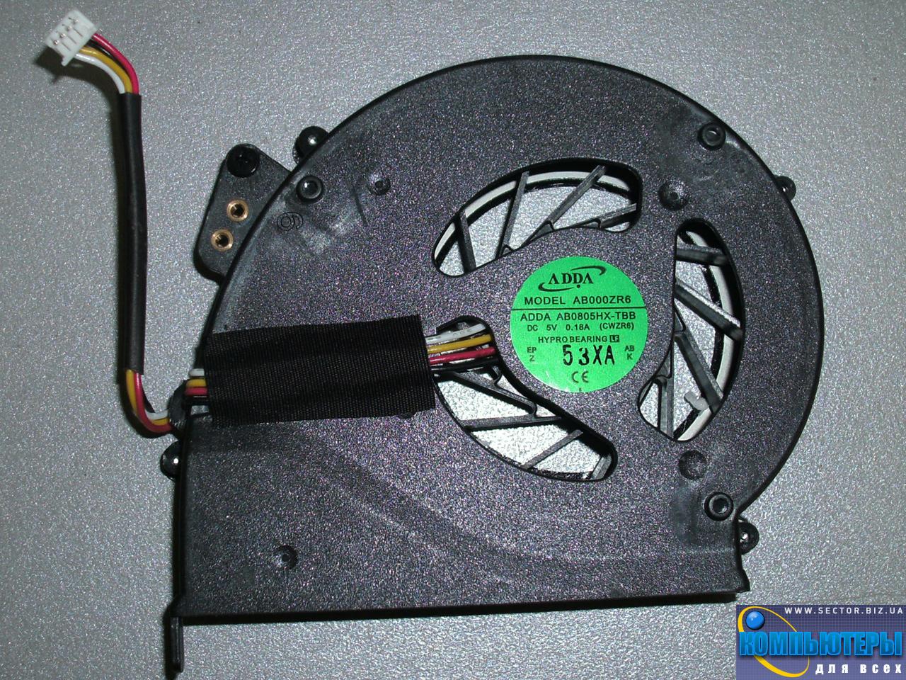 Кулер к ноутбуку Emachines E528 E728 p/n: AB0805HX-TBB (CWZR6). Фото № 1.