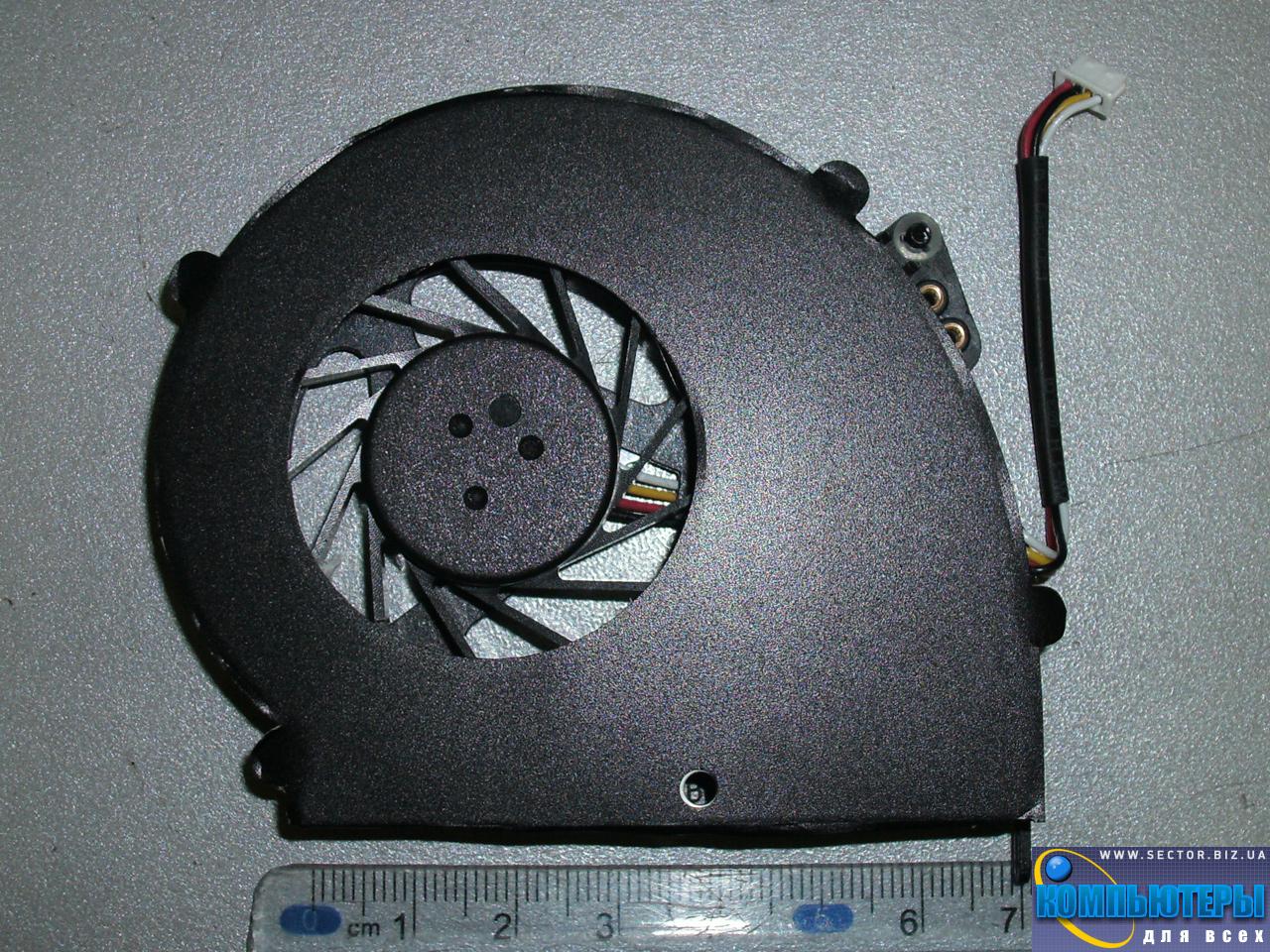 Кулер к ноутбуку Emachines E528 E728 p/n: AB0805HX-TBB (CWZR6). Фото № 2.