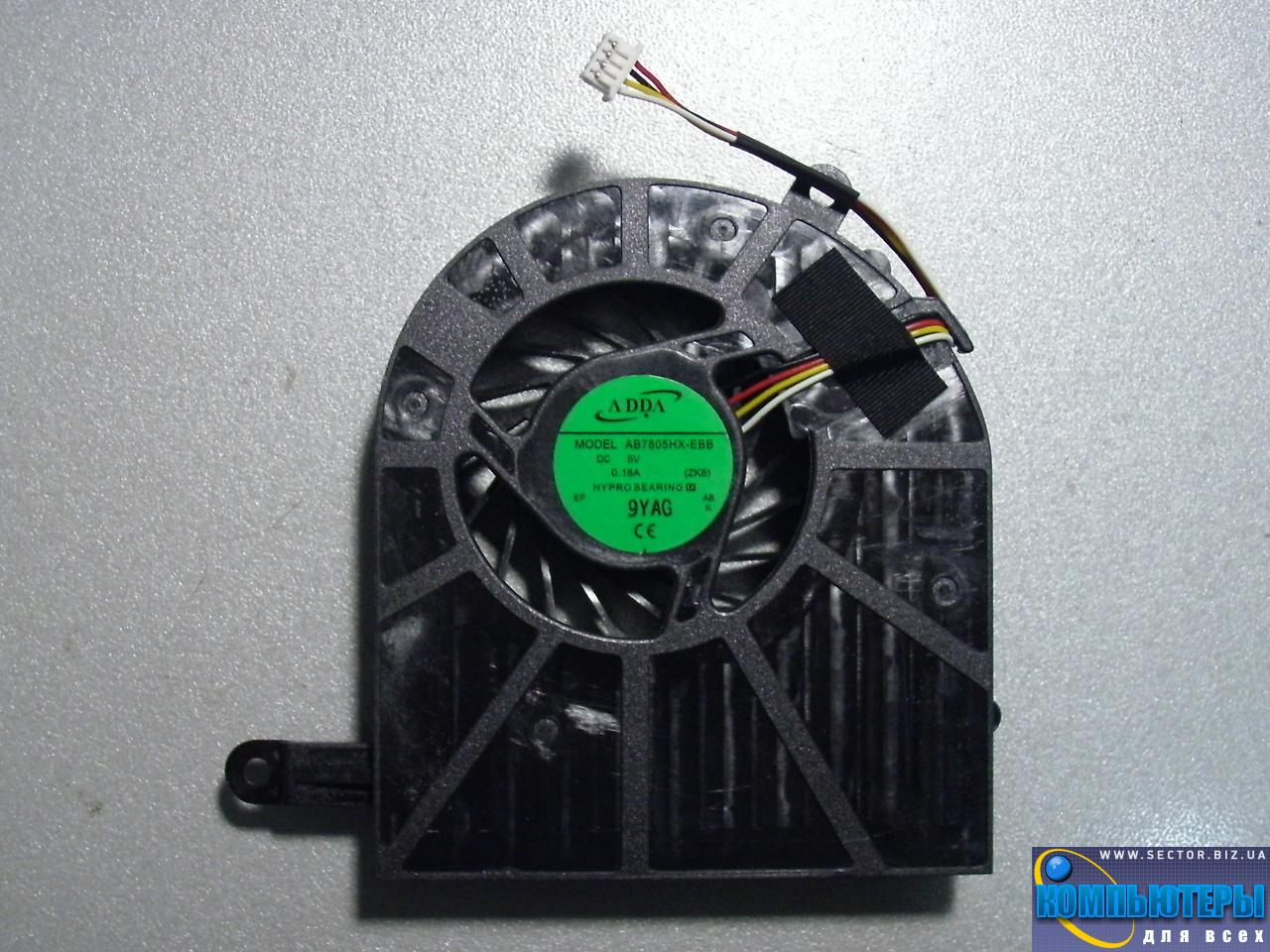 Кулер к ноутбуку Acer Aspire 5739 5739G p/n: AB7805HX-EBB (ZK6). Фото № 4.