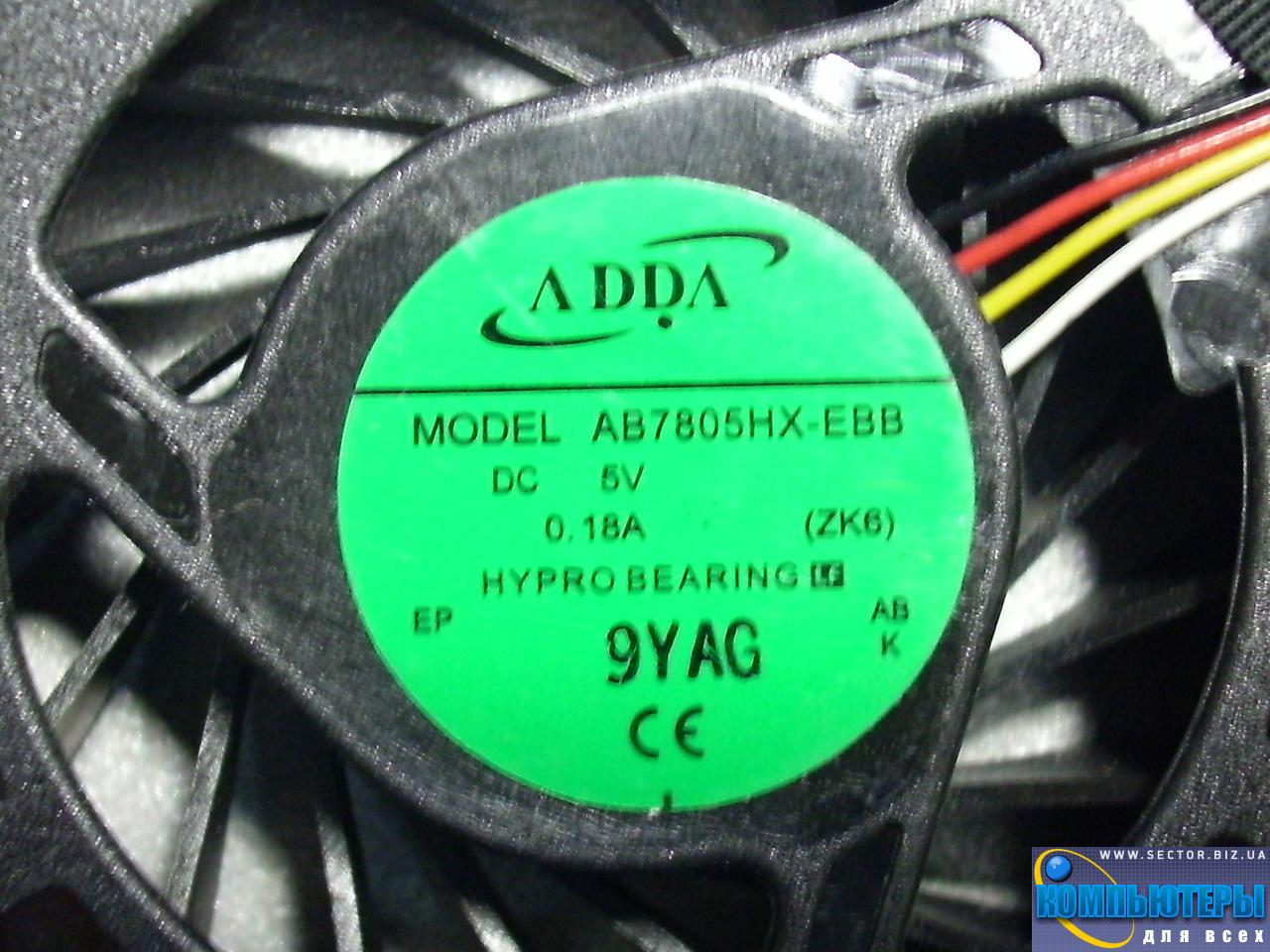 Кулер к ноутбуку Acer Aspire 5739 5739G p/n: AB7805HX-EBB (ZK6). Фото № 3.