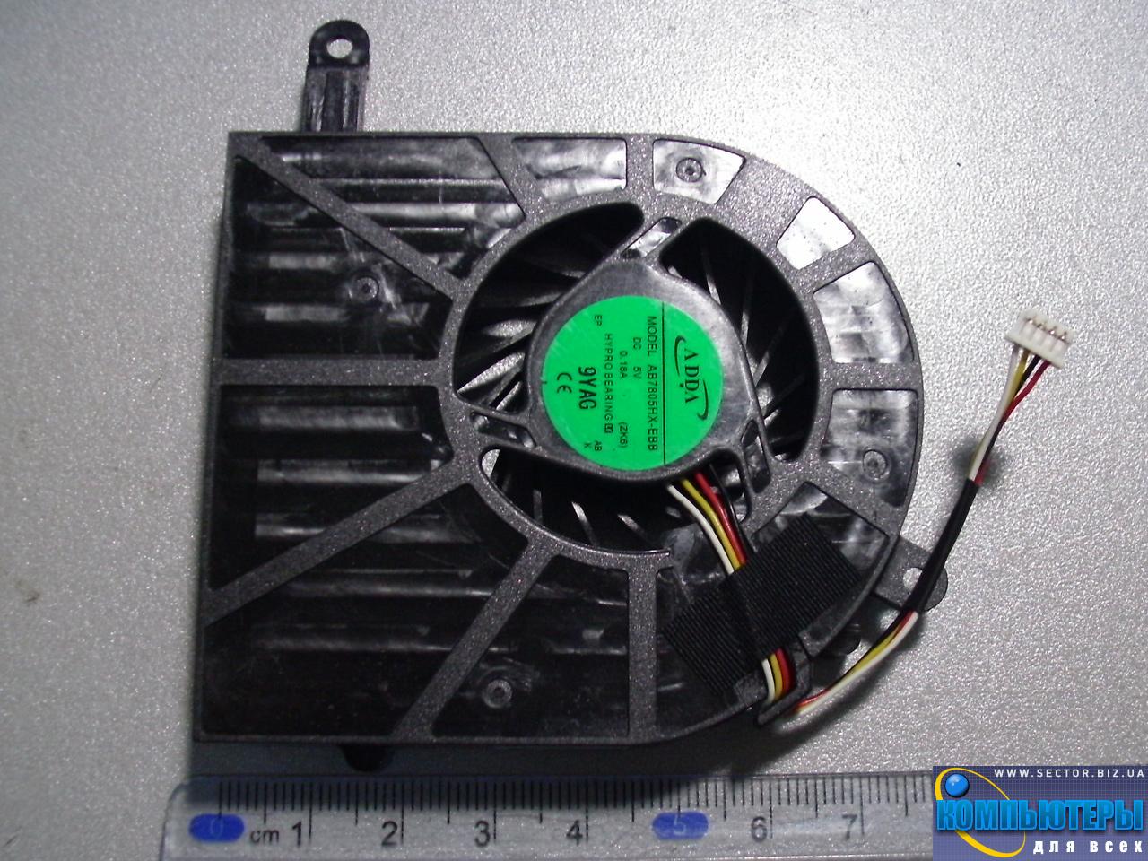 Кулер к ноутбуку Acer Aspire 5739 5739G p/n: AB7805HX-EBB (ZK6). Фото № 1.
