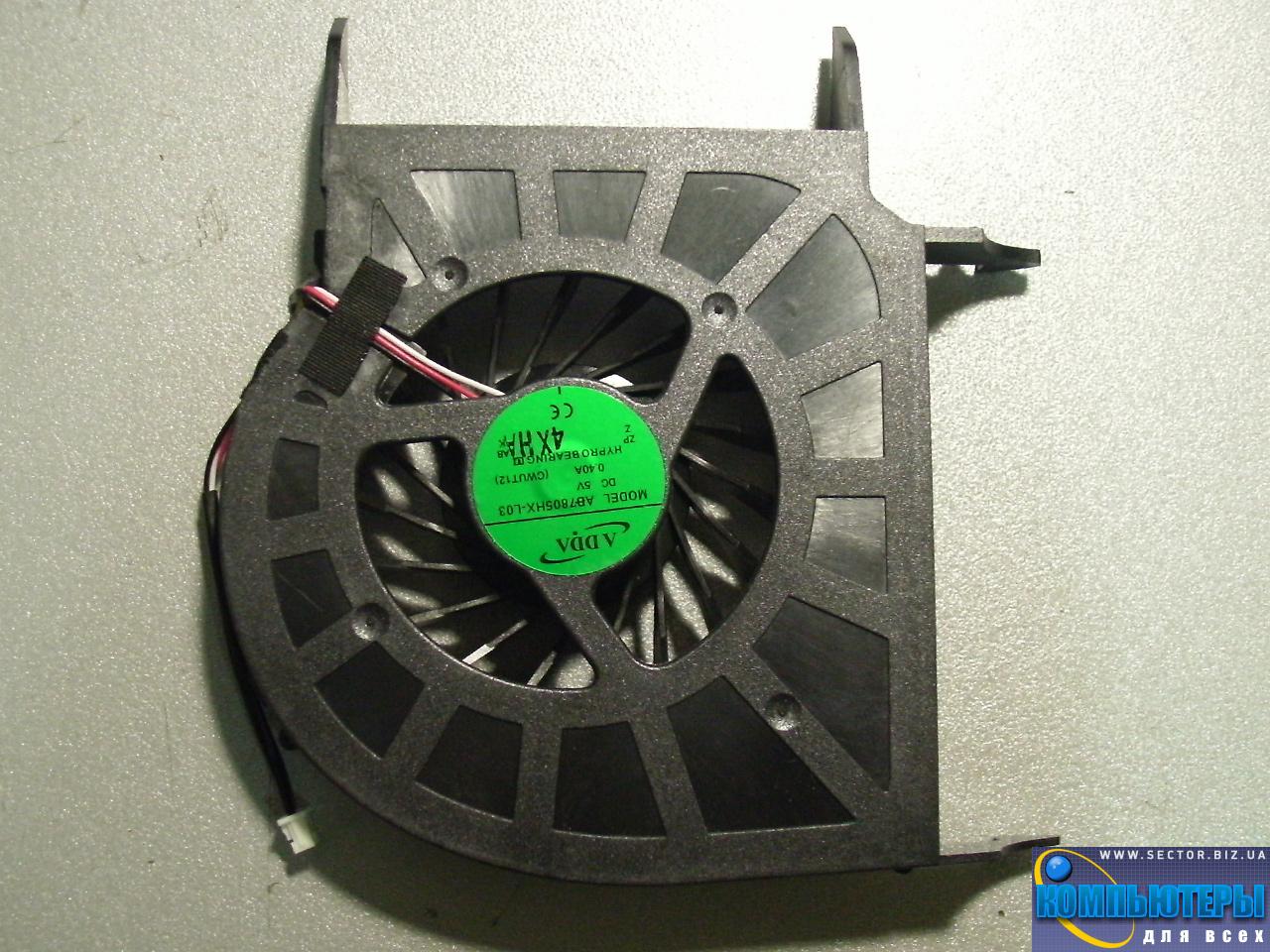 Кулер к ноутбуку HP Pavilion DV6-1000 DV6-1100 DV6-1200 DV6-2000 DV6-2100 DV6-2200 DV6 DV6T DV6Z p/n: AB7805HX-L03. Фото № 1.