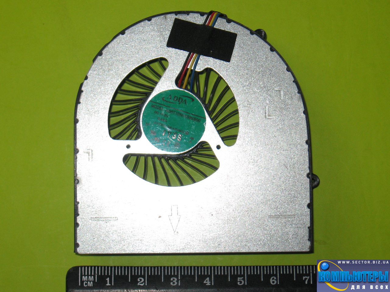 Кулер к ноутбуку Lenovo B570 V570 V570A Z570 p/n: AD0705HX09KB00. Фото № 4.