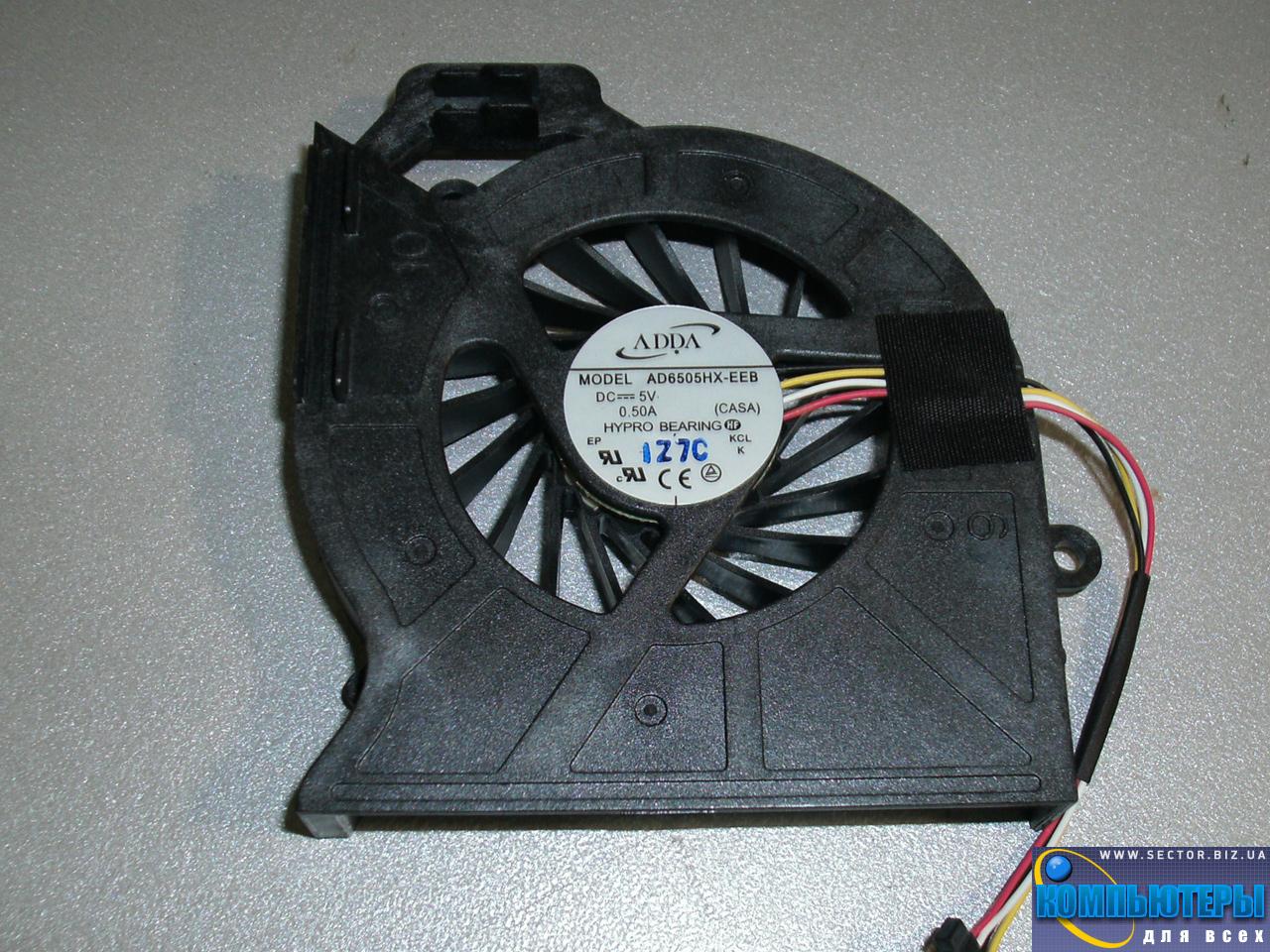 Кулер к ноутбуку HP Pavilion DV6-6200 DV6-6b00 DV6-6c00 DV7-6000 ProBook 4530S p/n: AD6505HX-EEB (CASA). Фото № 5.