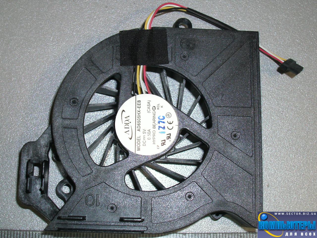 Кулер к ноутбуку HP Pavilion DV6-6200 DV6-6b00 DV6-6c00 DV7-6000 ProBook 4530S p/n: AD6505HX-EEB (CASA). Фото № 2.