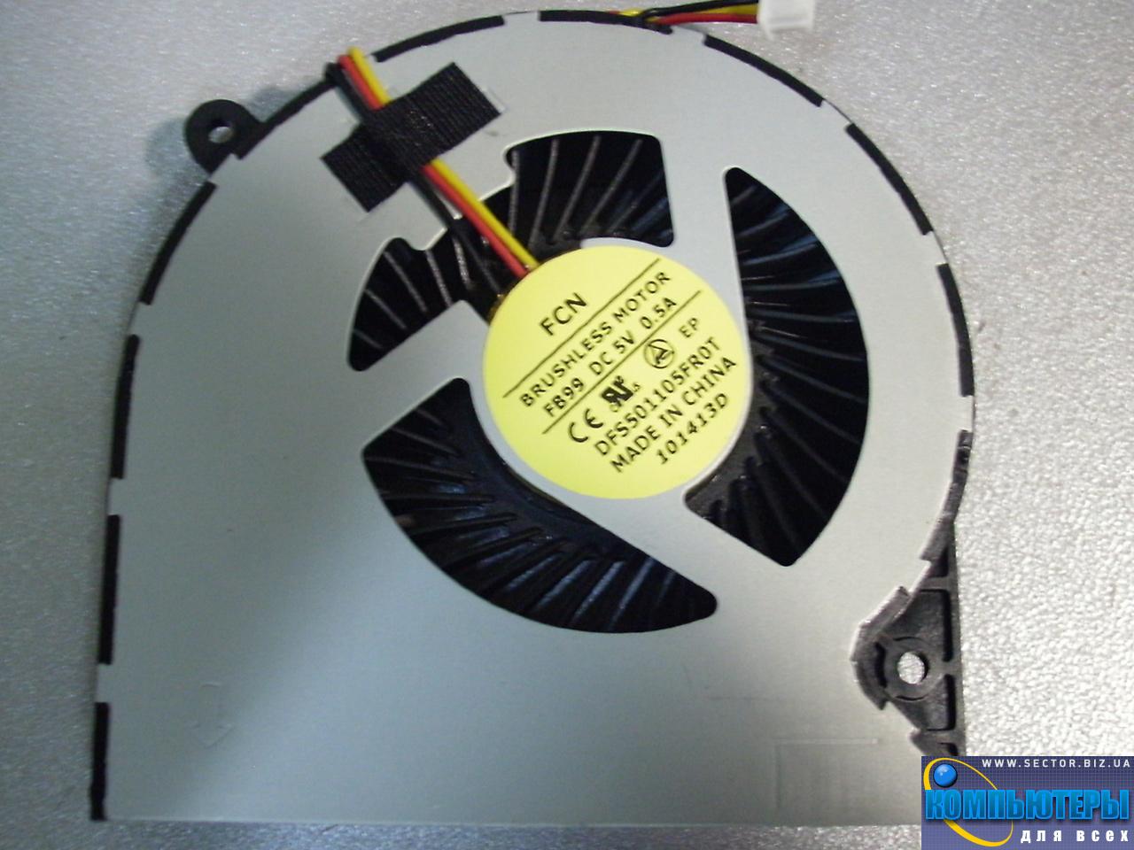Кулер к ноутбуку Toshiba C850 C870 C855 C875 L850 p/n: DFS501105FR0T FB99 101413D. Фото № 4.