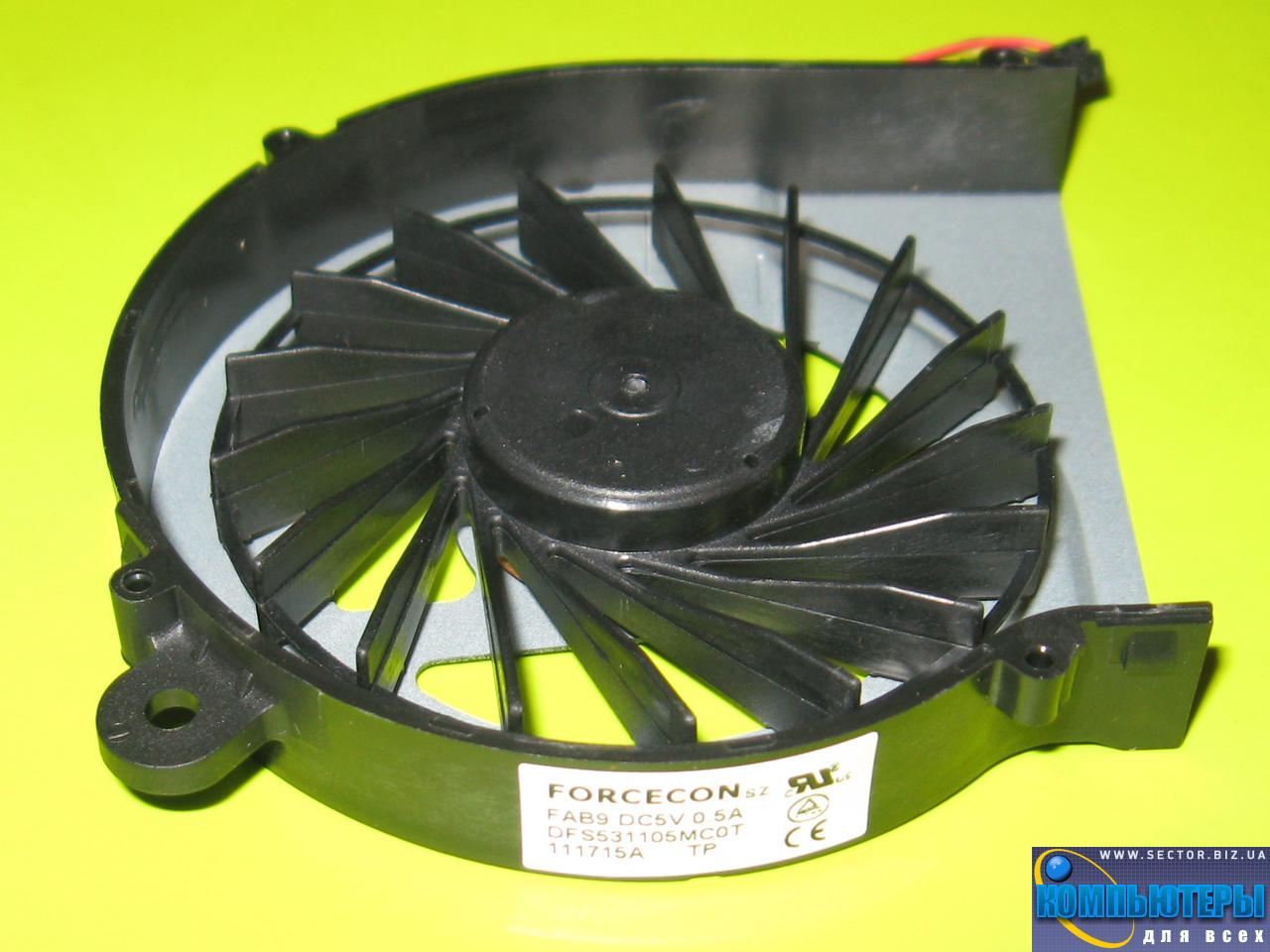 Кулер к ноутбуку HP Compaq CQ42 G42 G4 G6 G7 CQ56 G56 p/n: DFS531105MC0T FAB9. Фото № 2.