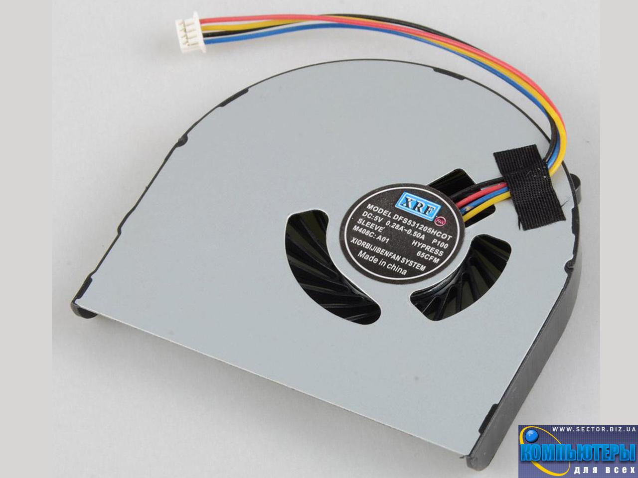 Кулер к ноутбуку Lenovo B480 B480A B485 B490 B590 M490 M495 p/n: DFS531205HC0T. Фото № 2.