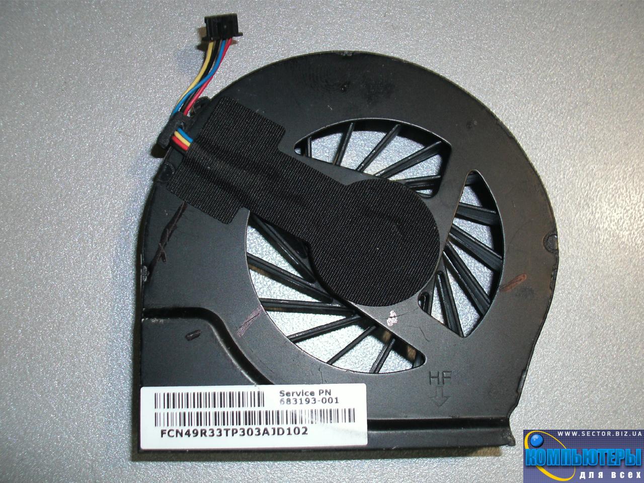 Кулер к ноутбуку HP Pavilion G4-2000 G4-2045TX G4-2006AX G6-2000 G6-2328TX G7-2000 p/n: DFS531205MC0T FB5S 683193-001. Фото № 3.