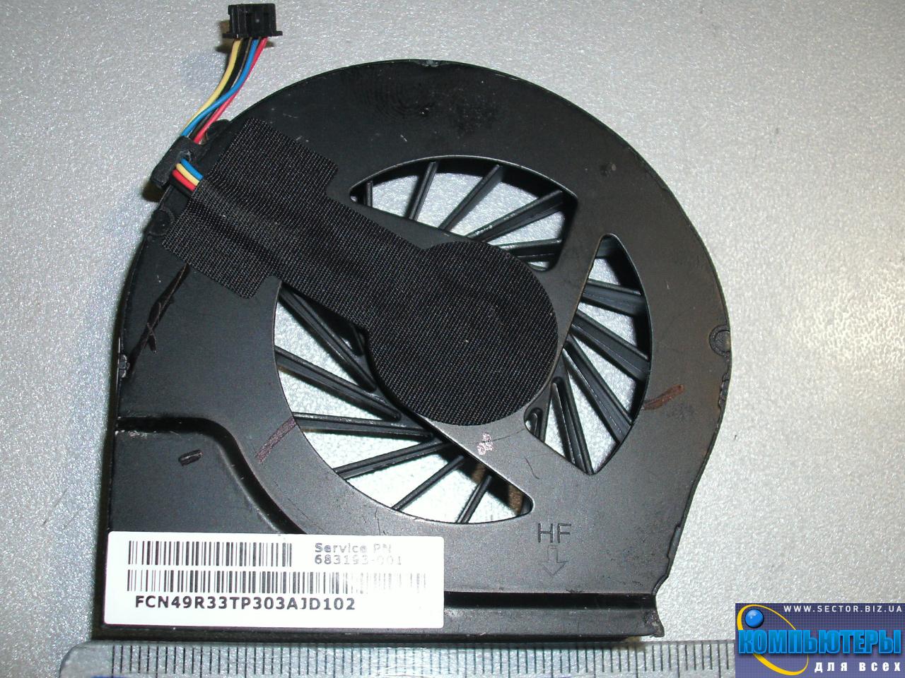 Кулер к ноутбуку HP Pavilion G4-2000 G4-2045TX G4-2006AX G6-2000 G6-2328TX G7-2000 p/n: DFS531205MC0T FB5S 683193-001. Фото № 4.