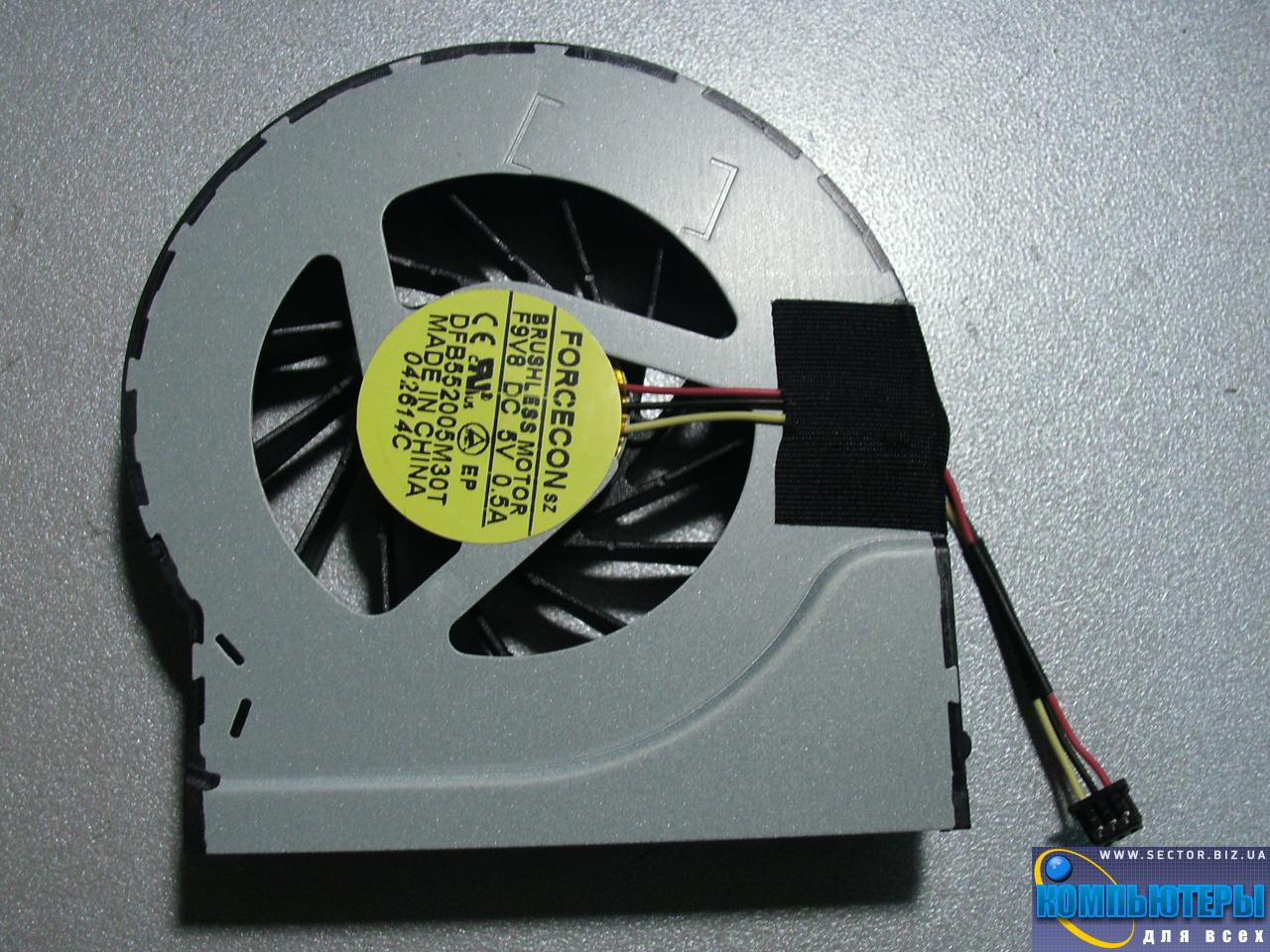 Кулер к ноутбуку HP Pavilion DV6-3000 DV6T-3000 DV7-4000 DV7T-4000 DV7-4100 p/n: DFS552005M30T F9V8. Фото № 2.