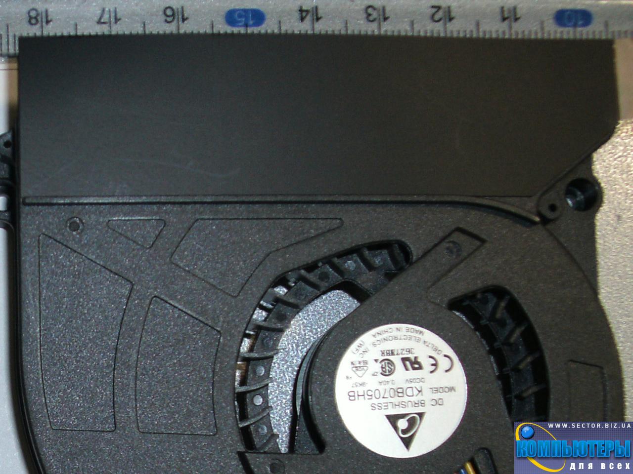Кулер к ноутбуку Asus X5D X5DI X5DC X5DAF X5 K60 K61IC K70 K70AB K70C p/n: KDB0705HB-9K57. Фото № 1.