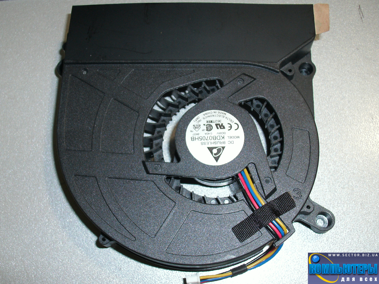Кулер к ноутбуку Asus X5D X5DI X5DC X5DAF X5 K60 K61IC K70 K70AB K70C p/n: KDB0705HB-9K57. Фото № 2.