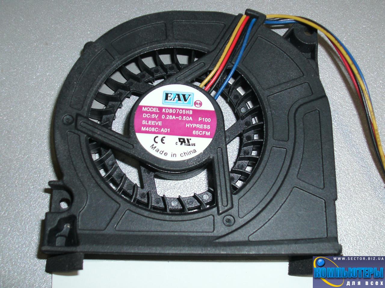 Кулер к ноутбуку Lenovo Y510 Y520 Y530 F51 p/n: KDB0705HB. Фото № 5.