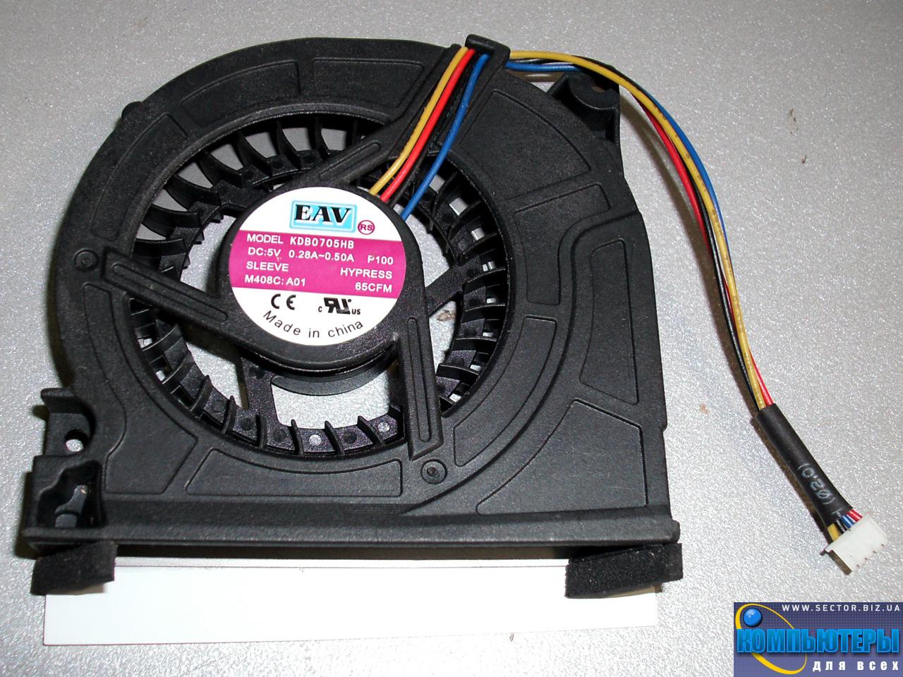 Кулер к ноутбуку Lenovo Y510 Y520 Y530 F51 p/n: KDB0705HB. Фото № 2.