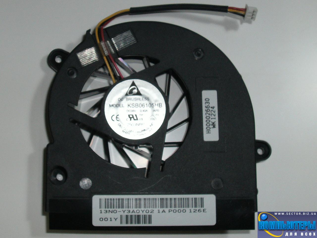 Кулер к ноутбуку Toshiba C675 L770 L770D L775 L775D p/n: KSB06105HB-AI10. Фото № 1.
