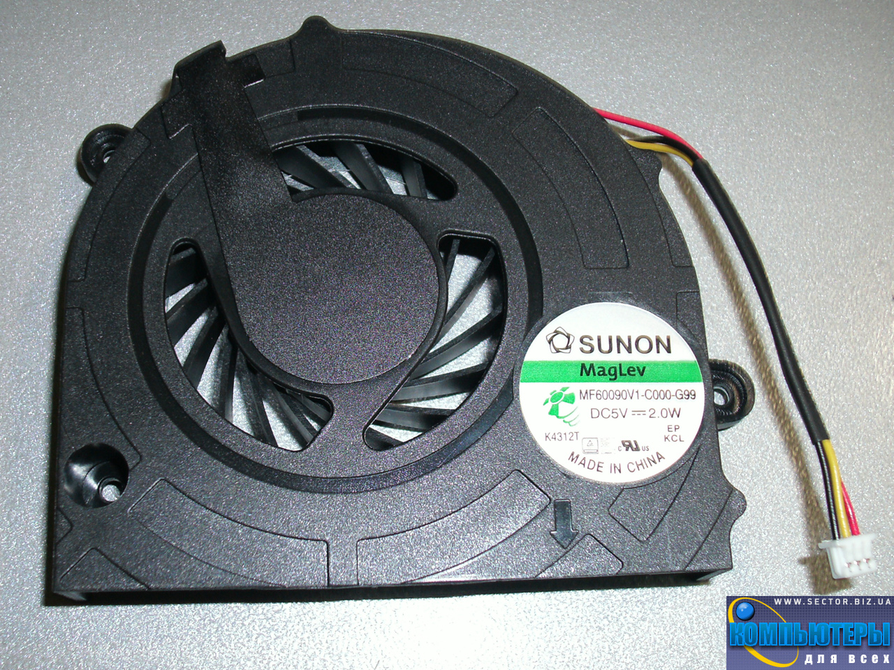 Кулер к ноутбуку Lenovo G450 G455 G550 G550M G555 B550 L3000 G450A G450M p/n: MF60090V1-C000-G99. Фото № 3.