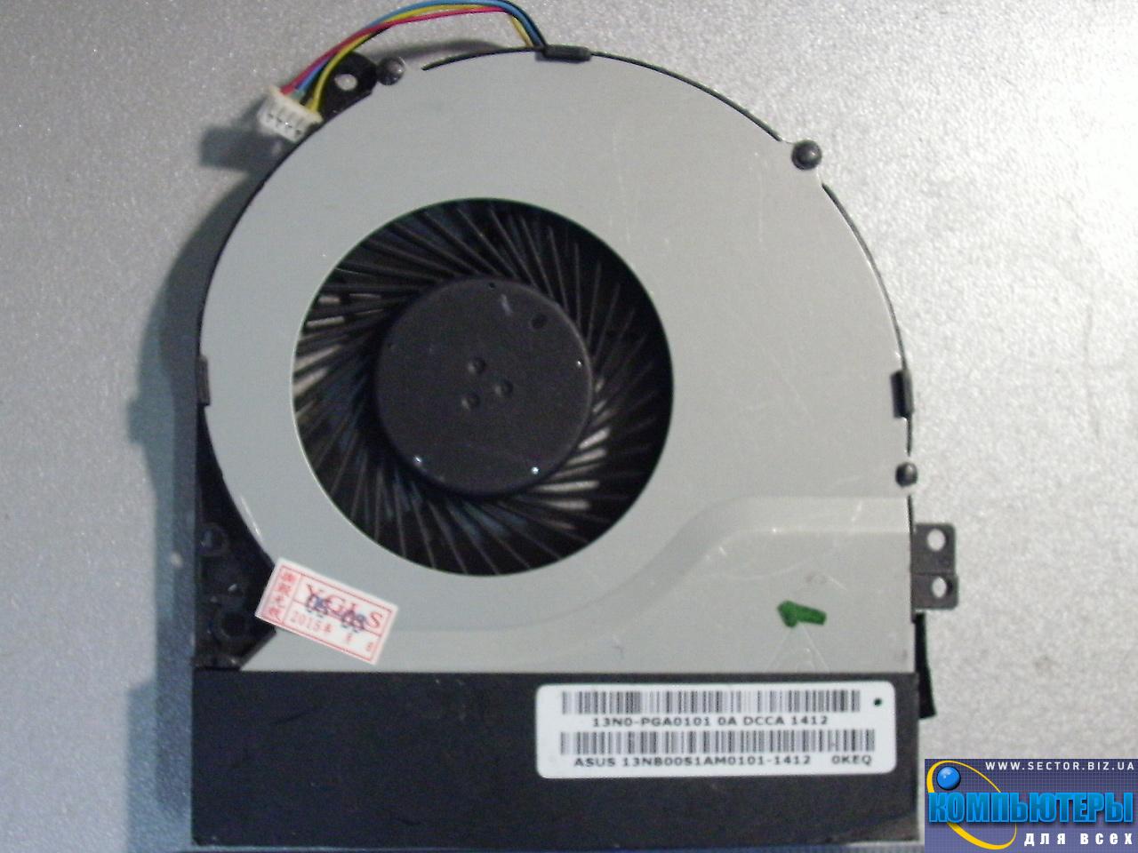 Кулер к ноутбуку Asus X450 X450CA X550 X550C X550V X550VC p/n: MF75070V1-C090-S9A. Фото № 2.