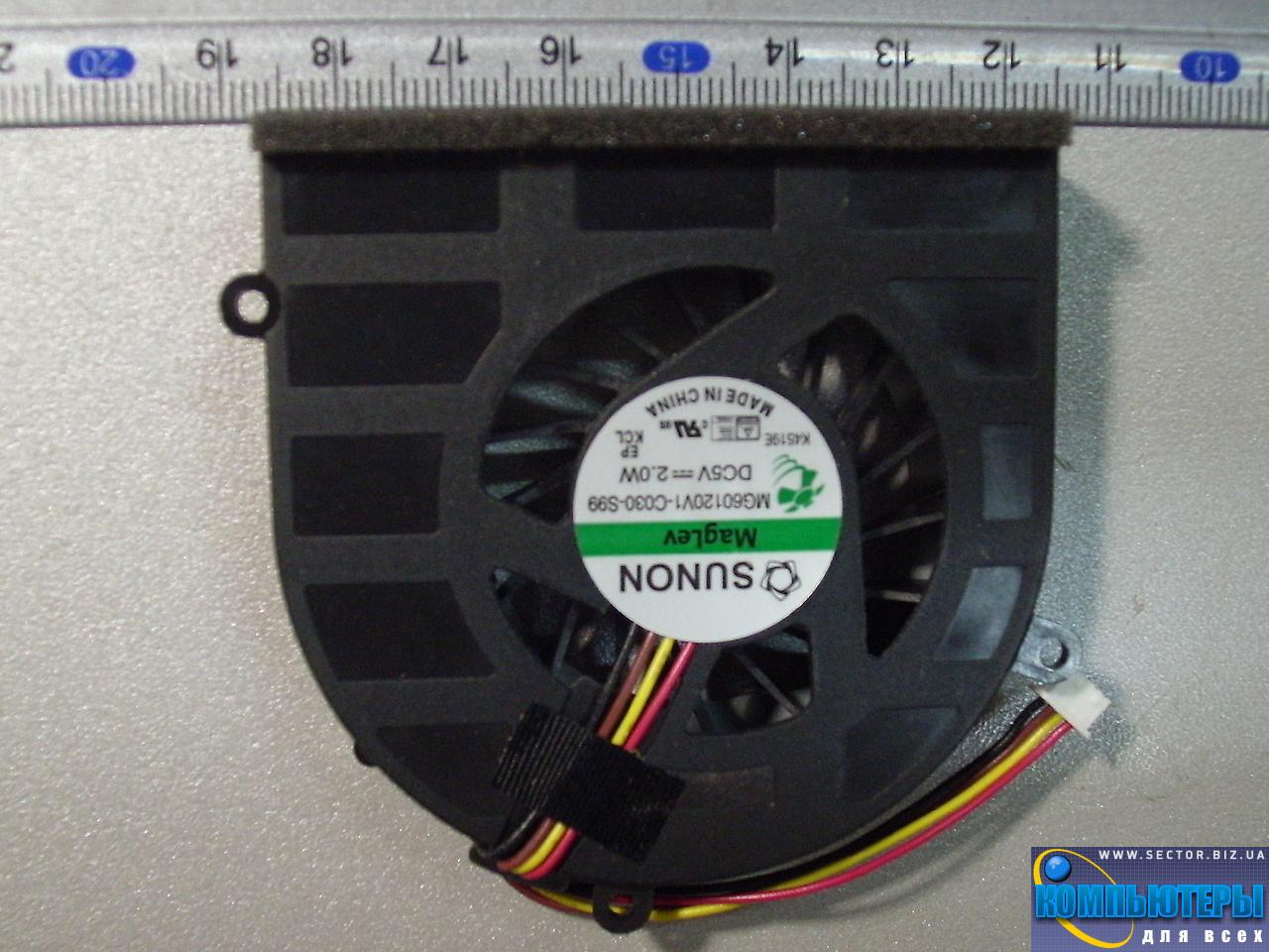 Кулер к ноутбуку Lenovo G470 G470A G470AH G475 G475A G474GL G470AL G570 G575 p/n: MG60120V1-C030-S99. Фото № 5.